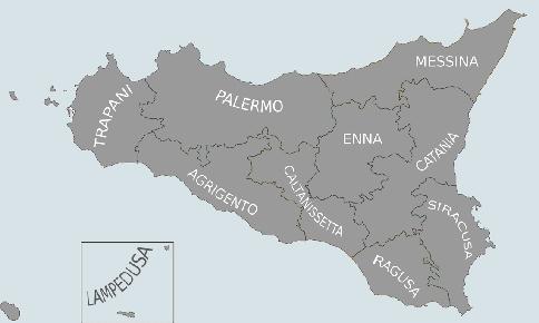 Monitoraggio della situazione dei migranti in Sicilia svolta dall'Associazione Borderline Onlus. Contributi organizzati per provincia.
